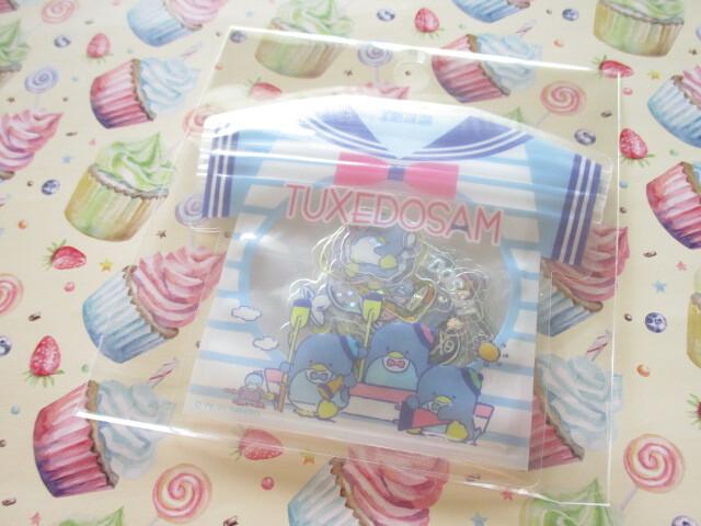Photo1: Kawaii Cute T-shirt Summer Sticker Flakes Sack Sanrio Original *TUXEDO SAM  (60788-6)