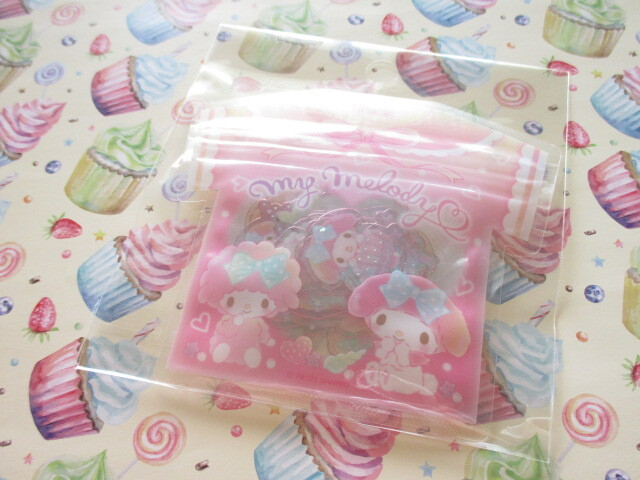 Photo1: Kawaii Cute T-shirt Summer Sticker Flakes Sack Sanrio Original *My Melody (60767-3)