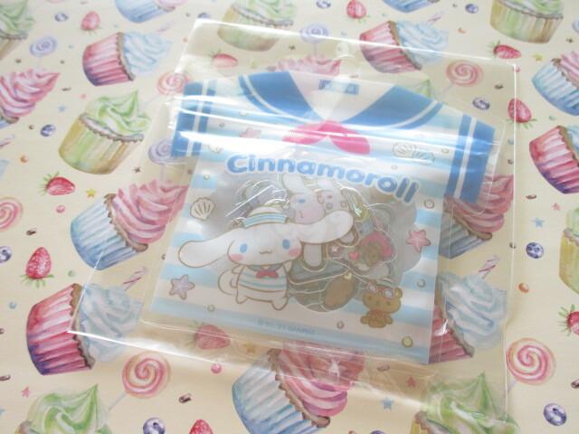 Photo1: Kawaii Cute T-shirt Summer Sticker Flakes Sack Sanrio Original *Cinnamoroll (60772-0)
