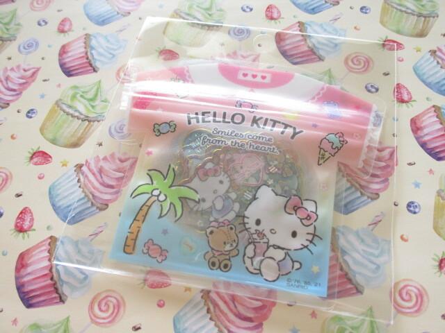 Photo1: Kawaii Cute T-shirt Summer Sticker Flakes Sack Sanrio Original *Hello Kitty  (60762-2)