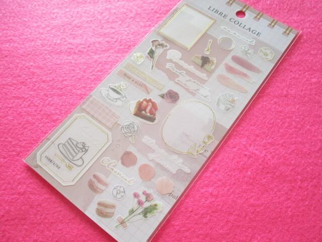 Photo1: Kawaii Cute Libre Collage Stickers Sheet Q-LiA *Pink (80771)