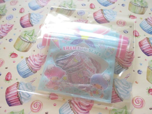 Photo1: Kawaii Cute T-shirt Summer Sticker Flakes Sack Sanrio Original *Little Twin Stars (60765-7)