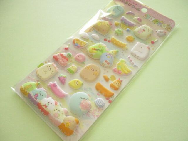 Photo1: Kawaii Cute Funi Funi Stickers Sheet Sumikkogurashi San-x *Penpen Fruits Vacation (SE50802)