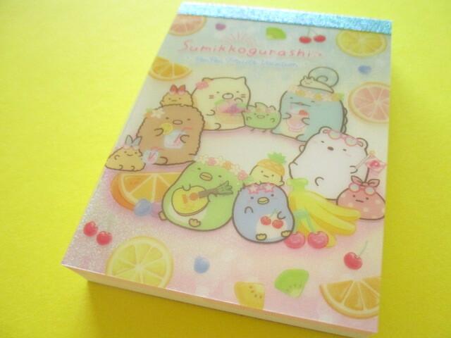 Photo1: Kawaii Cute Mini Memo Pad Sumikkogurashi San-x *Penpen Fruits Vacation (MH05101-1)