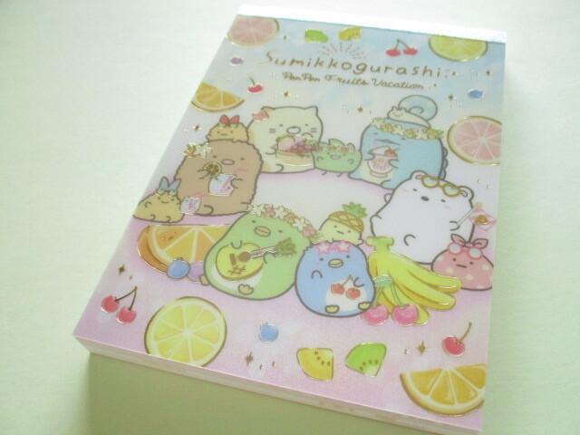 Photo1: Kawaii Cute Large Memo Pad Sumikkogurashi San-x *Penpen Fruits Vacation (MH05201)