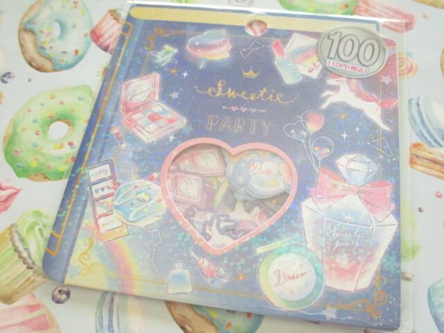 Photo1: Kawaii Cute Sticker Flakes Sack Kamio Japan *Sweetie Party (201367)