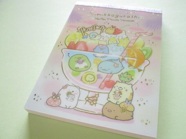 Photo1: Kawaii Cute Large Memo Pad Sumikkogurashi San-x *Penpen Fruits Vacation (MH05202)