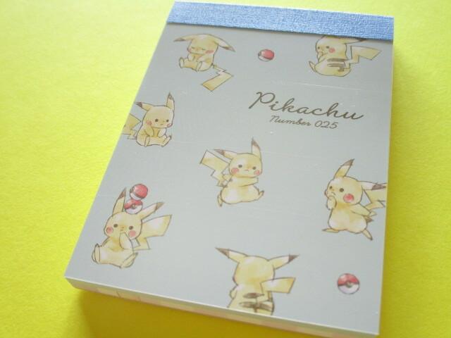 Photo1: Kawaii Cute Pikachu Mini Memo Pad Cute Model *Full (300239)