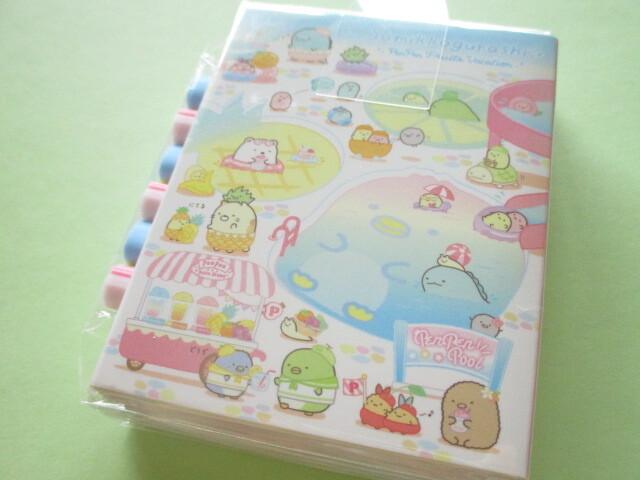 Photo1: Kawaii Cute Patapata Mini Memo Pad Set Sumikkogurashi San-x *Penpen Fruits Vacation (MH05302)