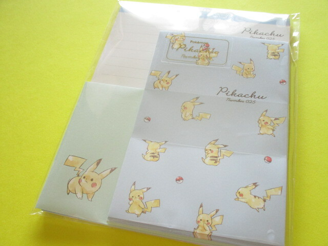 Photo1: Kawaii Cute Pikachu Letter Set Cute Model *Full (300153)