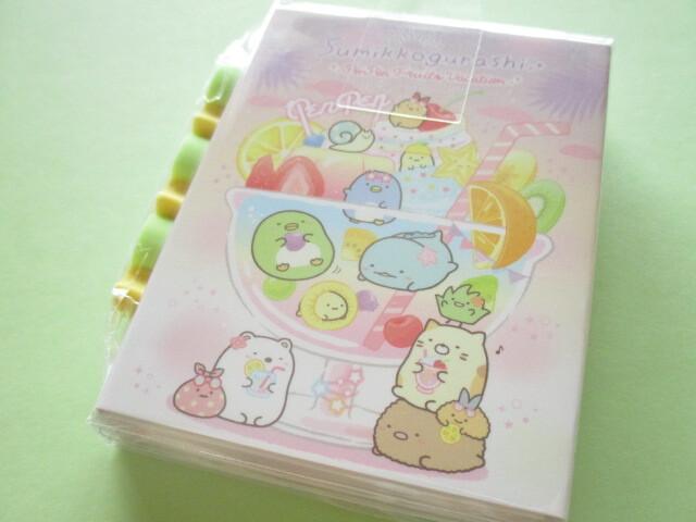 Photo1: Kawaii Cute Patapata Mini Memo Pad Set Sumikkogurashi San-x *Penpen Fruits Vacation (MH05301)