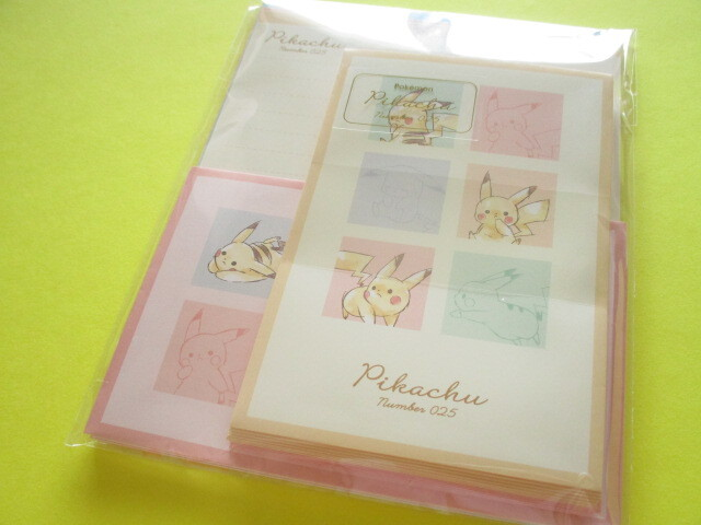 Photo1: Kawaii Cute Pikachu Letter Set Cute Model *Colorful (300152)
