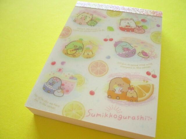 Photo1: Kawaii Cute Mini Memo Pad Sumikkogurashi San-x *Penpen Fruits Vacation (MH05101-2)