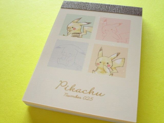 Photo1: Kawaii Cute Pikachu Mini Memo Pad Cute Model *Colorful (300238)