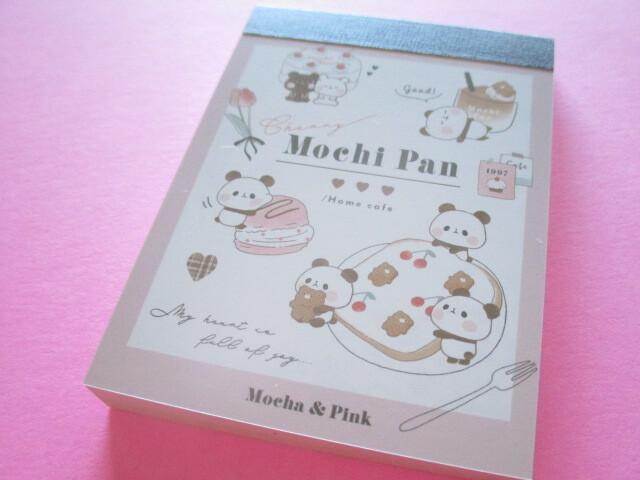 Photo1: Kawaii Cute Mini Memo Pad Mochi Mochi Panda Kamio Japan *Mocha & Pink (41439)