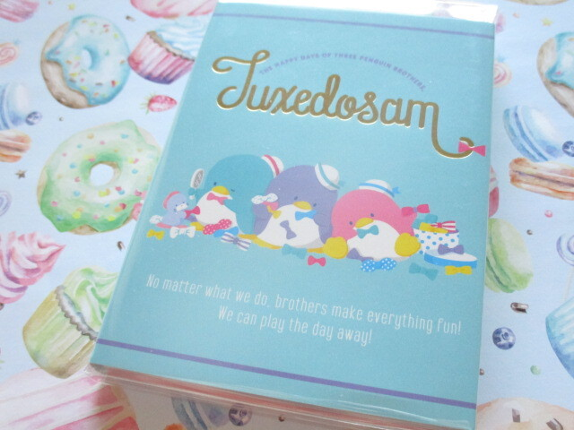 Photo1: Kawaii Cute Patapata Medium Memo Pad Sanrio Original *TUXEDO SAM (65415-9)