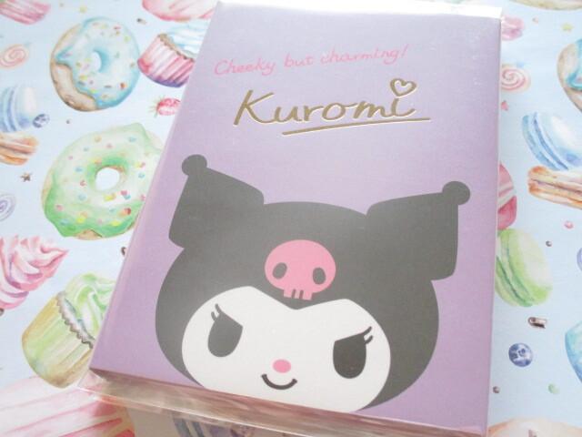 Photo1: Kawaii Cute Patapata Medium Memo Pad Sanrio Original *Kuromi (58526-2)