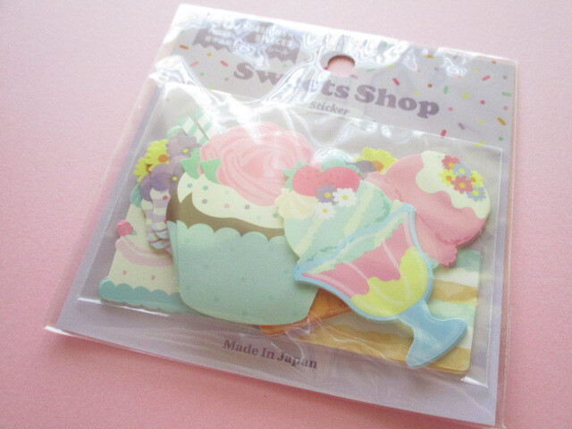 Photo1: Kawaii Cute Sweets Shop Sticker Flakes Sack Gaia *Flower (465799)