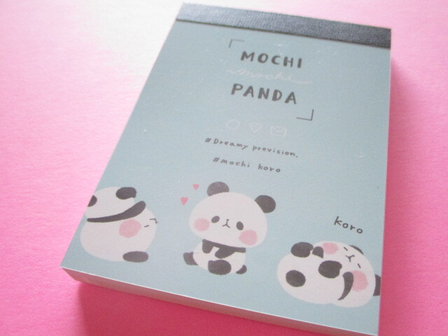 Photo1: Kawaii Cute Mini Memo Pad Mochi Mochi Panda Kamio Japan *Mochi Koro (200598)