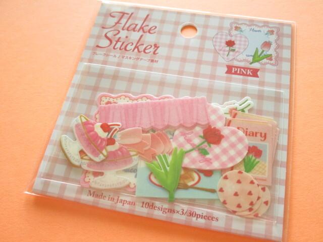 Photo1: Cute Masking Sticker Flakes Sack Gaia *Pink (466364)