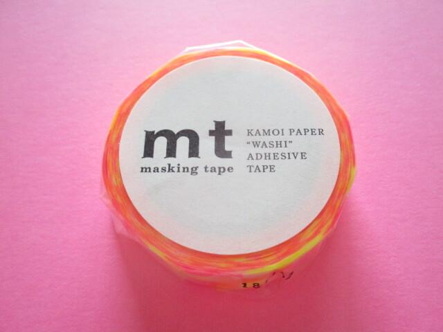 Photo1: Masking Tape Sticker Kamoi *Circle Triangle Square / Neon colors (MT01D297)