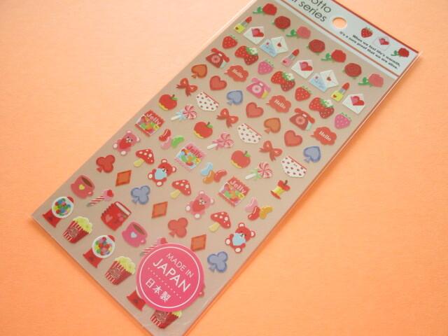 Photo1: Kawaii Cute Stickers Sheet Gaia *Red (465870)