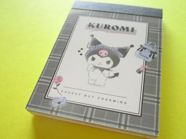 Photo1: Kawaii Cute Mini Memo Pad Kuromi Sanrio *Black (102132)