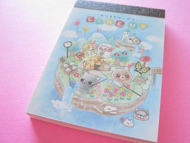 Photo1: Kawaii Cute Mini Memo Pad Animal Like Me Q-LiA *Daytime (64038)