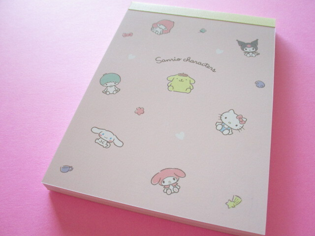 Photo1: Kawaii Cute Sanrio Characters Large Memo Pad Crux *Pink (102573)