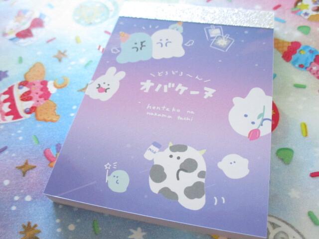 Photo1: Kawaii Cute Mini Memo Pad オバケーヌ Crux *Dress up (102878)