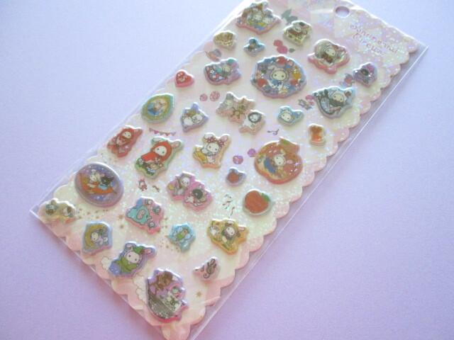 Photo1: Kawaii Cute Funi Funi Aurora Stickers Sheet San-x *Sentimental Circus (SE51407)