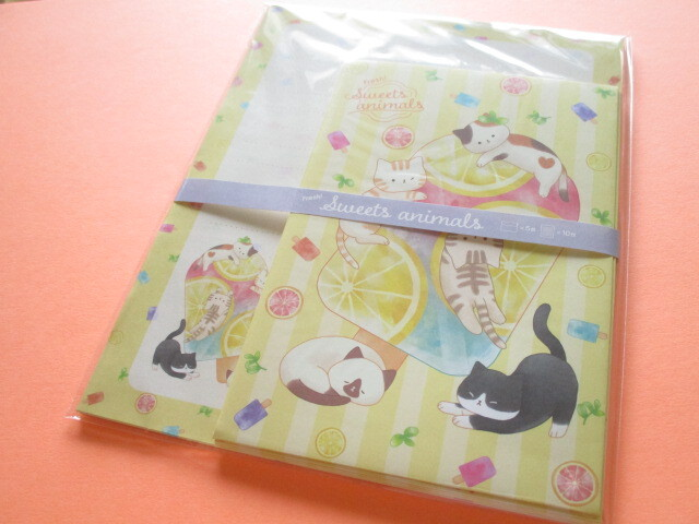 Photo1: Kawaii Cute Letter Set Kyowa *Fresh! Sweets Animals (42-098 Yellow)