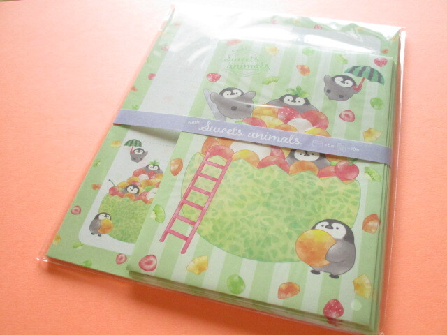 Photo1: Kawaii Cute Letter Set Kyowa *Fresh! Sweets Animals (42-098 Green)