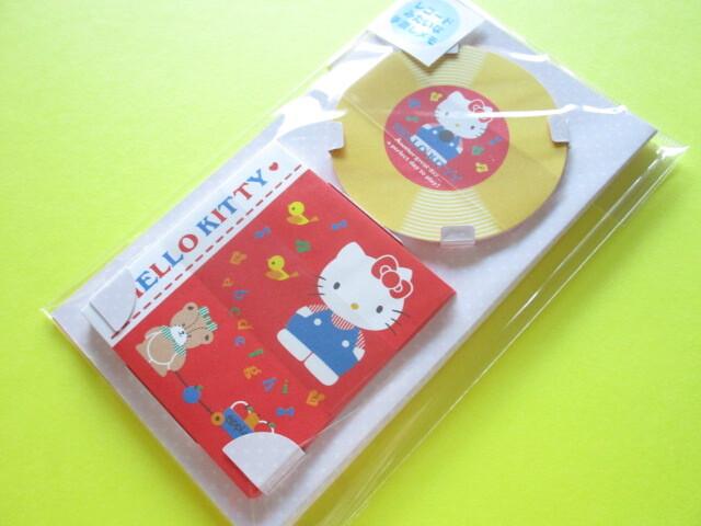Photo1: Kawaii Cute Record-type Memo Pad & Mini Envelopes Set Sanrio Origimal *Hello Kitty (90284-5)