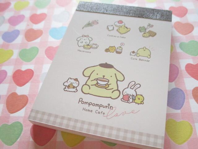 Photo1: Kawaii Cute Mini Memo Pad POMPOMPURIN Sanrio *Cafe (300692)