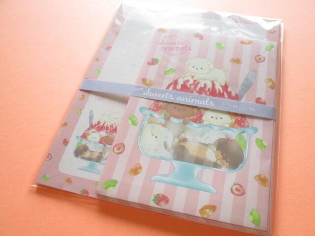Photo1: Kawaii Cute Letter Set Kyowa *Fresh! Sweets Animals (42-098 Red)