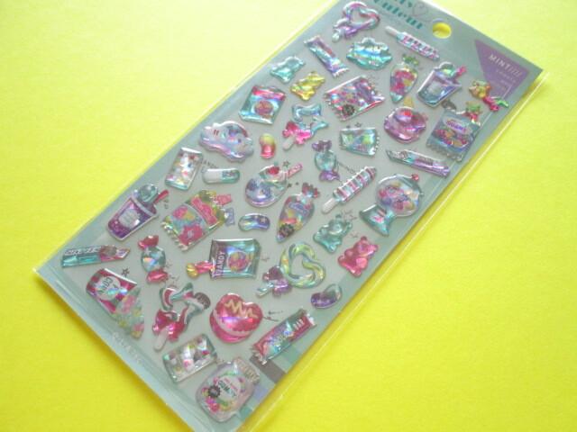 Photo1: Kawaii Cute Melty Couleur Candy Stickers Sheet  Q-Lia *Mint (61021)