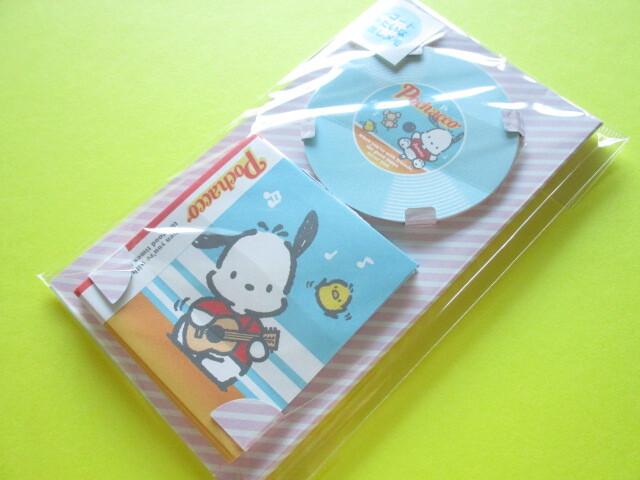 Photo1: Kawaii Cute Record-type Memo Pad & Mini Envelopes Set Sanrio Origimal *Pochacco (90290-0)