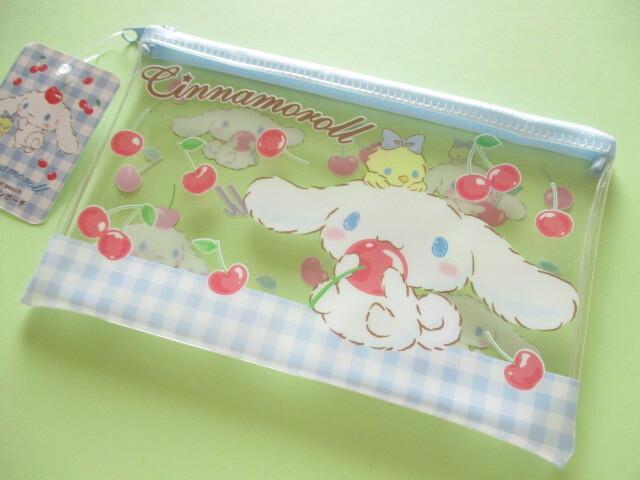 Photo1: Kawaii Cute Flat Pen Pouch Cinnamoroll Sanrio *Cherry (FPP-CN)