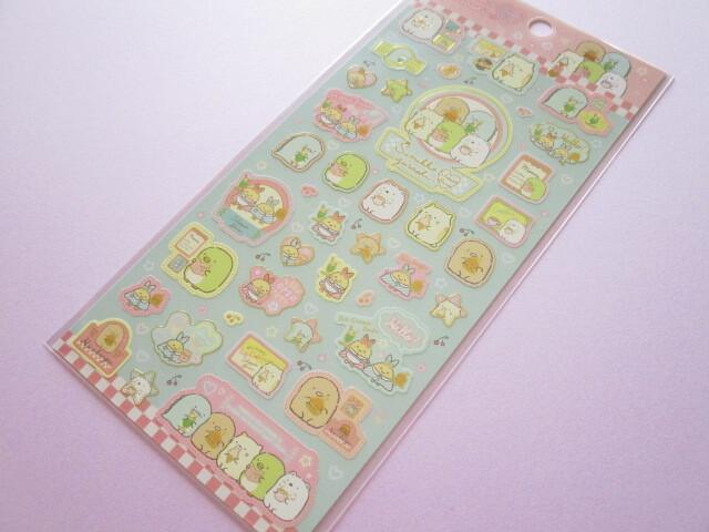 Photo1: Kawaii Cute Stickers Sheet Sumikkogurashi San-x *Shippo's Diner (SE52002)