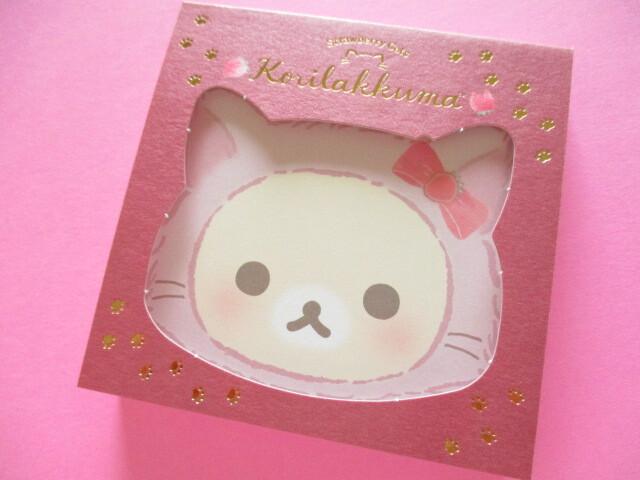 Photo1: Kawaii Cute Square Memo Pad San-x *Korilakkuma with Strawberry Cats (MH06101)