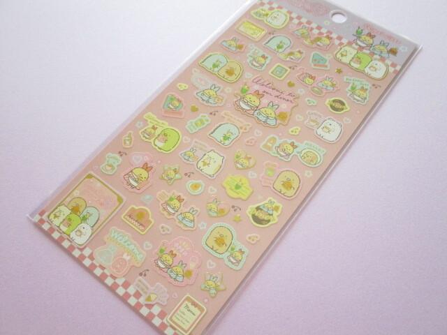 Photo1: Kawaii Cute Stickers Sheet Sumikkogurashi San-x *Shippo's Diner (SE52001)