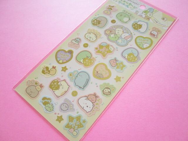 Photo1: Kawaii Cute Character Message Stickers Sheet San-x *Sumikkogurashi (SE51604)