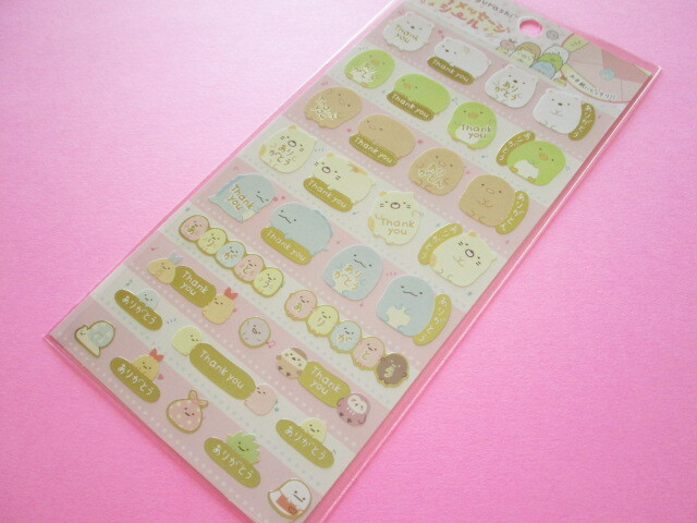 Photo1: Kawaii Cute Character Message Stickers Sheet San-x  *Sumikkogurashi (SE51603)