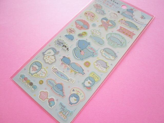 Photo1: Kawaii Cute Character Message Stickers Sheet San-x *Jinbesan (SE51606)