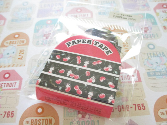 Photo1: Kawaii Cute Masking Tape/Deco Tape Sticker Sanrio Original *Kuromi  (97662-8)