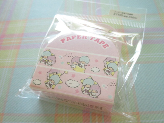 Photo1: Kawaii Cute Masking Tape/Deco Tape Sticker Sanrio Original *Little Twin Stars (97674-1)