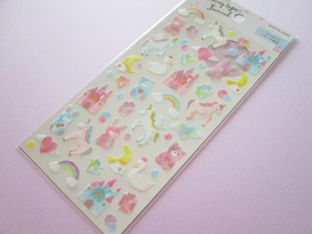 Photo1: Kawaii Cute Masking tape Journal Stickers Sheet Gaia *ゆめかわ (465402)