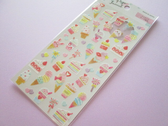 Photo1: Kawaii Cute Masking tape Journal Stickers Sheet Gaia *Sweets (465400)