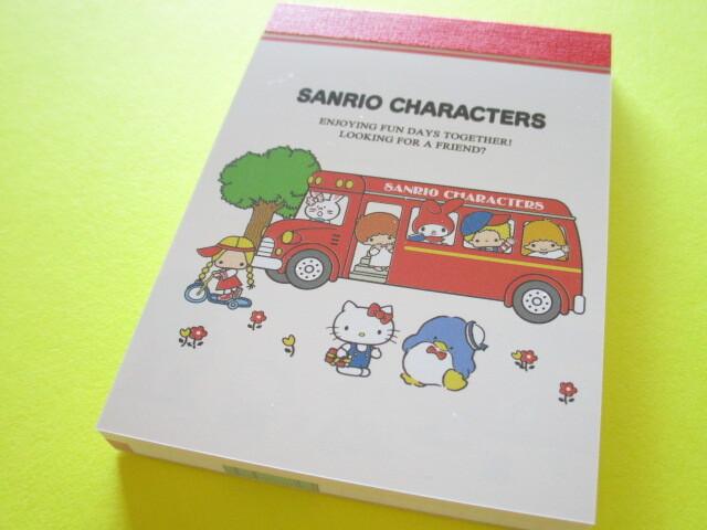 Photo1: Kawaii Cute Mini Memo Pad Sanrio Characters Kamio Japan *Bus (202467)